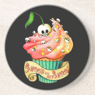 Sweet & Deadly  Skull Cupcake Coaster