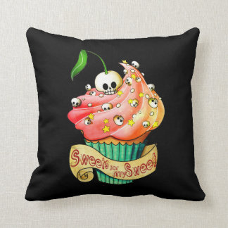 Sweet & Deadly  Skull Cupcake Cushion