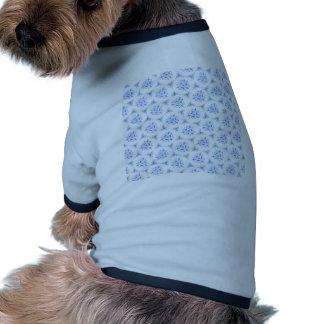 sweet doodle pattern blue (I) Ringer Dog Shirt