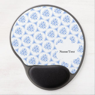 sweet doodle pattern blue (I) Gel Mouse Pad