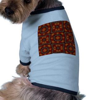 Sweet Doodle Pattern,Brown (I) Pet Tee Shirt