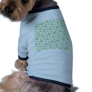 sweet doodle pattern green (I) Ringer Dog Shirt