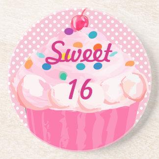 Sweet Dots  16 Cupcake Coasters