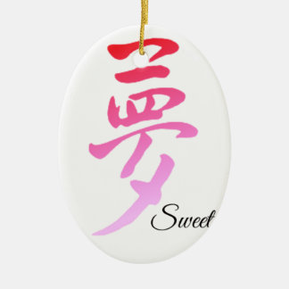 Sweet Dream Ceramic Oval Decoration