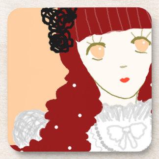 Sweet Dreaming Girl Drink Coaster