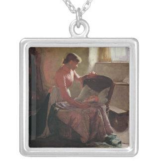 Sweet Dreams, 1892 Square Pendant Necklace