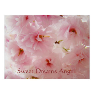 Sweet Dreams Angel! Litlle Girl's Wall Art Blossom Poster