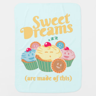 Sweet dreams are made of... cupcakes and cookies swaddle blankets