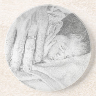Sweet Dreams Baby Black and White Beverage Coasters