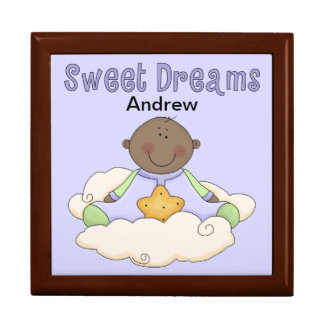 Sweet Dreams Baby Boy (Dark Skin) Jewelry Box