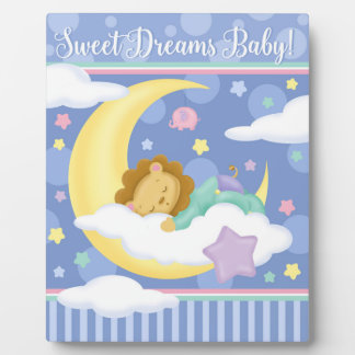 Sweet Dreams Baby Easel Photo Plaque