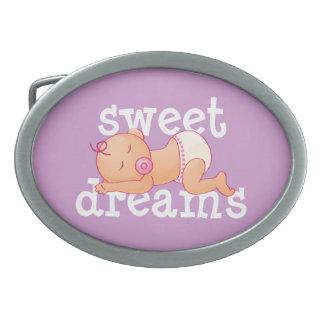 Sweet Dreams Baby Oval Belt Buckles