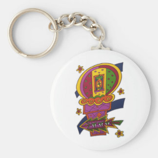 Sweet Dreams Basic Round Button Key Ring