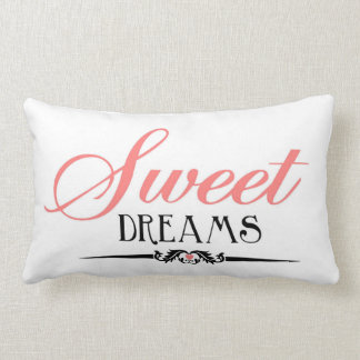 Sweet Dreams Bedroom Pillow by Enchanting Quotes Throw Cushions