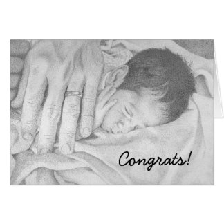 Sweet Dreams black and white, Congrats! Stationery Note Card
