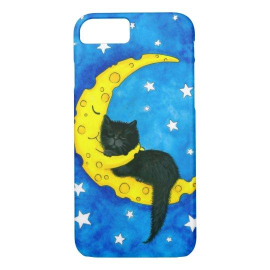 Sweet Dreams Black Cat by Bihrle iPhone 8/7 Case