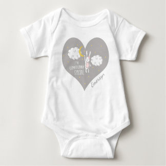 """Sweet Dreams Bunny"" Personalized Baby Bodysuit"