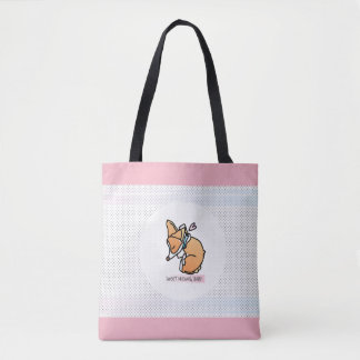sweet dreams, corgi baby. pastel tote bag