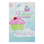 Sweet Dreams Cupcake Cloud Poster