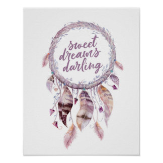 Sweet Dreams Darling dreamcatcher print