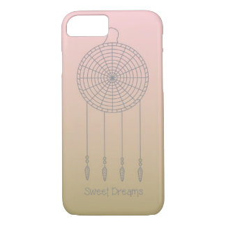 Sweet Dreams Dreamcatcher- Pink/Gold iPhone 7 Case