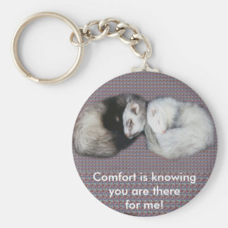 Sweet Dreams Ferrets Basic Round Button Key Ring