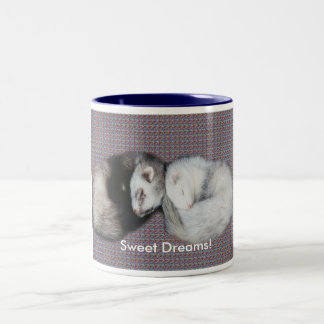 Sweet Dreams Ferrets Two-Tone Coffee Mug