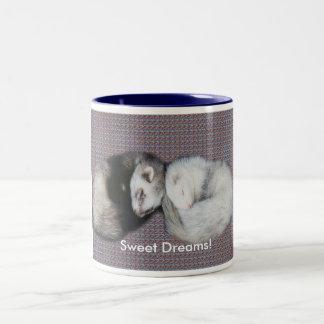 Sweet Dreams Ferrets Two-Tone Mug