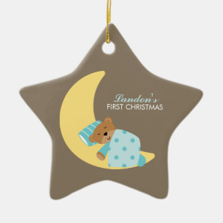 Sweet Dreams Lullaby Boy Baby's First Christmas Christmas Ornament