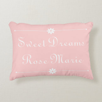 Sweet Dreams on Baby Pink Personalized Decorative Cushion