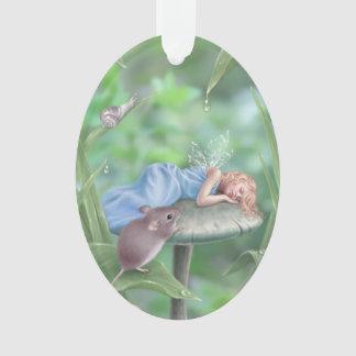 Sweet Dreams Oval Ornament Sleeping Fairy