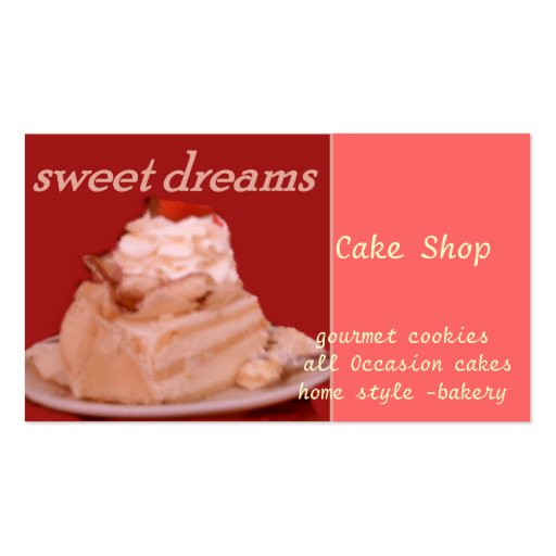 sweet dreams pack of standard business cards