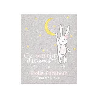 """Sweet Dreams"" Personalized Bunny Nursery Print"