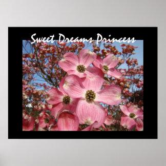 Sweet Dreams Princess art prints Pink Dogwood Poster