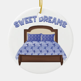 Sweet Dreams Round Ceramic Decoration