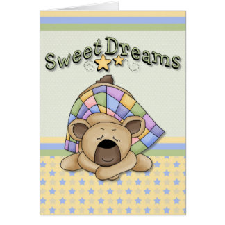 Sweet Dreams Sleeping Bear Card