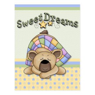 Sweet Dreams Sleeping Bear Card Postcard