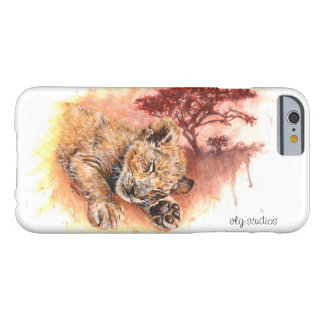 """SWEET DREAMS"" Sleeping Lion Cub Barely There iPhone 6 Case"