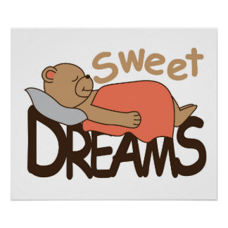 Sweet dreams wish design poster