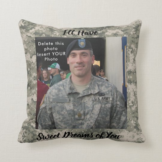 Sweet Dreams YOUR Photo & Prayer Army Soldier Cushion