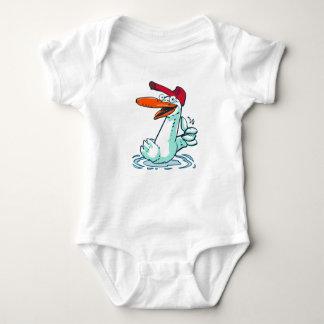 sweet duck on the lake cartoon baby bodysuit