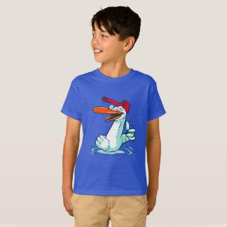 sweet duck on the lake cartoon T-Shirt