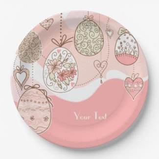 Sweet Elegance Easter Eggs 9 Inch Paper Plate