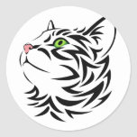 Sweet Face Kitty Cat 3 Round Sticker