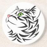 Sweet Face Kitty Cat 3 Sandstone Coaster