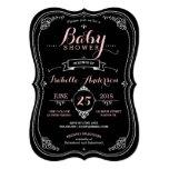 """Sweet Fancy Chalkboard Baby Shower Girl 5"""" X 7"""" Invitation Card"""