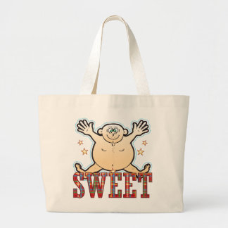 Sweet Fat Man Large Tote Bag