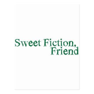 sweet fiction, friend postcard