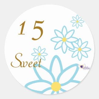 Sweet Fifteen April's Birth Flower-Cuctomize Round Sticker