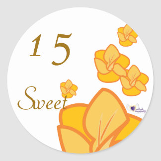 Sweet Fifteen August s Birth Flower-Cuctomize Round Sticker